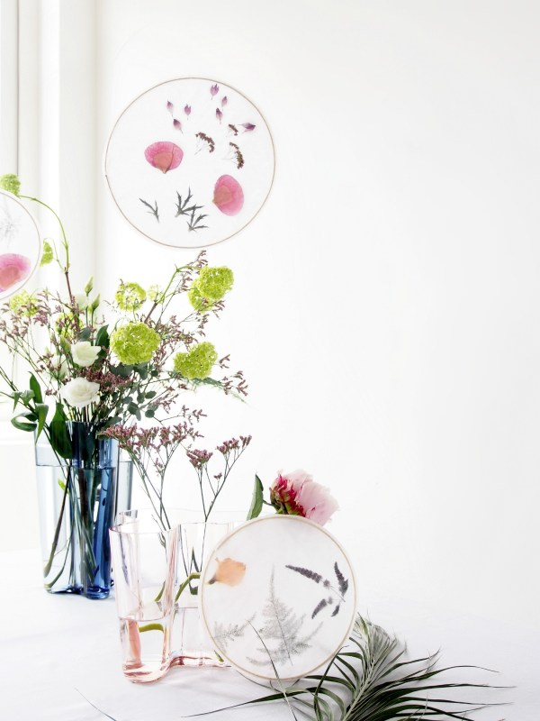 Make Floral Suncatchers