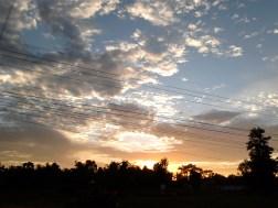 Sunset in Vientiane.