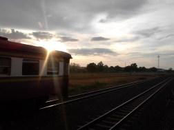 Train from Nong Khai to Bangkok.