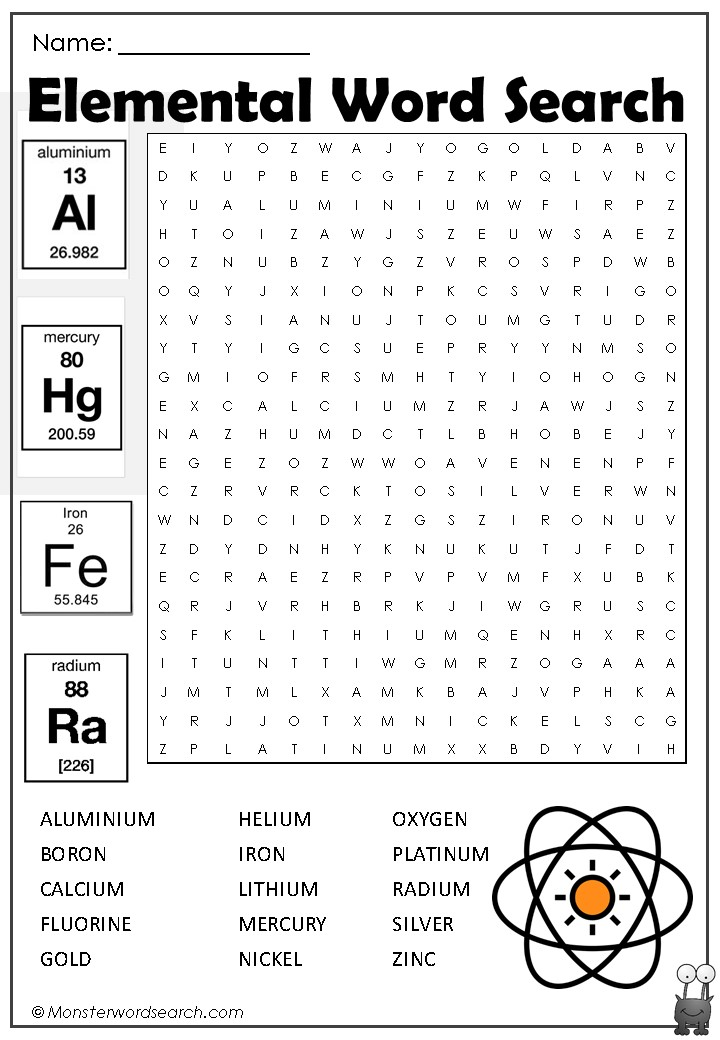 Elemental Word Search