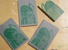 gggra little cthulhu notebooks green on gray