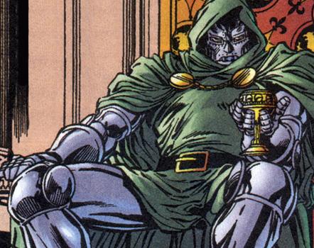 Doom brooding as he awaits his taquitos.