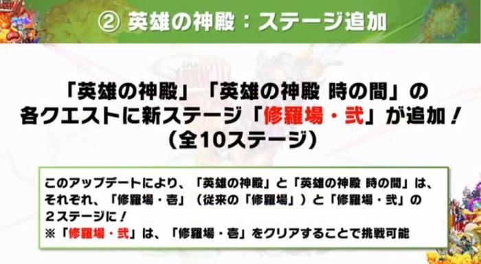 『英雄の神殿』に新ステージが登場!!