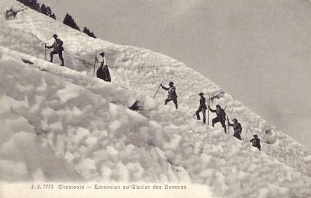 Excursion sur le glacier des Bossons.