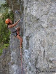 Escalade à la falaise de Servoz
