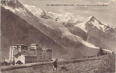 Majestic-Palace et le Mont-Blanc