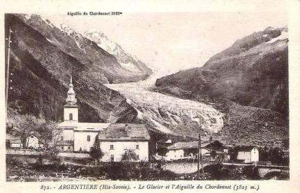 Argentière - Le Glacier et l'Aiguille du Chardonnet