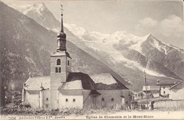 Eglise de Chamonix et le Mont-Blanc