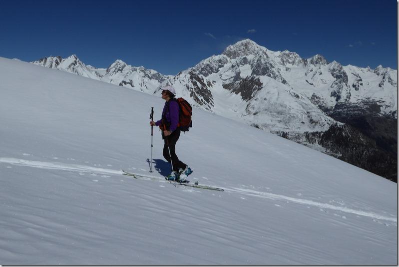 Montée avec le Mont Blanc