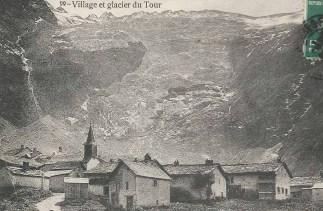 Village et Glacier du Tour en été