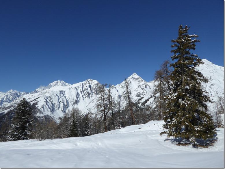 sommets et mont blanc