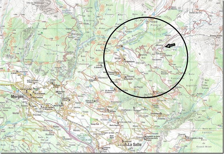 Carte Alpage des Ors