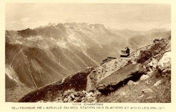 Téléférique de l'Aiguille du Midi Station des Glaciers