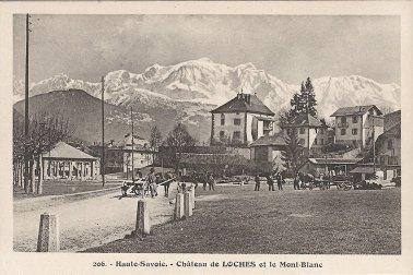 Sallanches Château de Loches et le Mont-Blanc