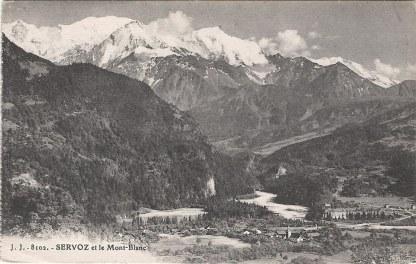 Servoz et le Mont-Blanc