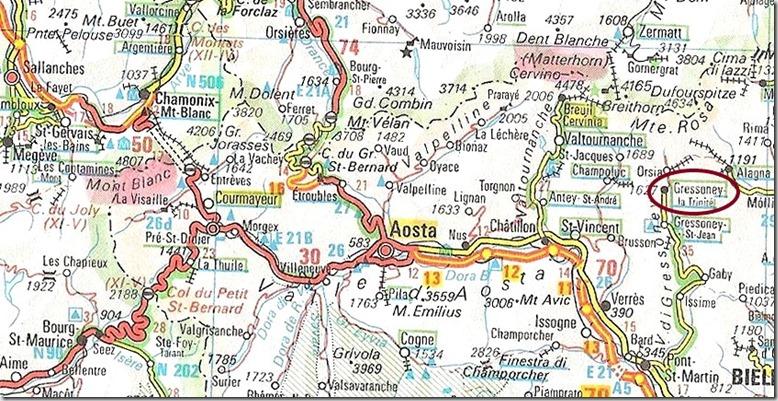 Carte Vallée d'Aoste