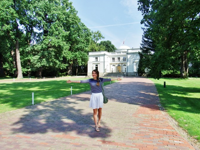 Me outsde Natolin Palace