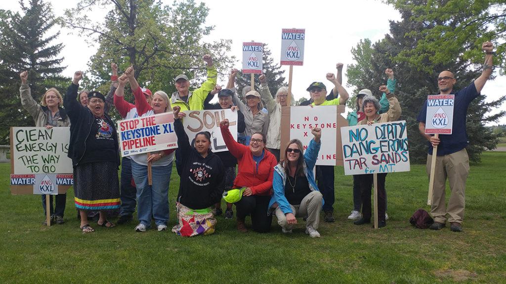 Protests ahead of Keystone XL hearing | Montana Free Press