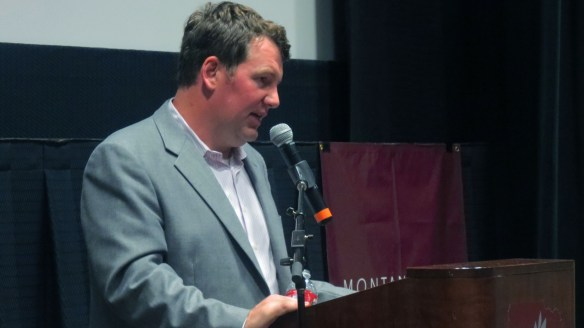 Kevin Van Valkenburg speaking from the podium