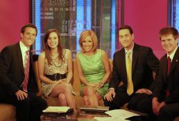 Photo of Schwier after winning the Fox News Award