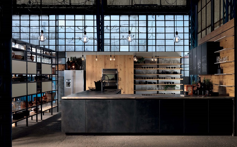 industrial kitchen style, aster cucine, factory design (2)