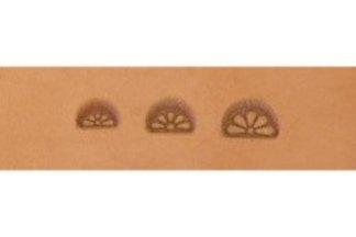 barry king borders, 5 petal border stamp