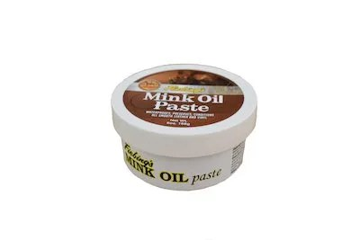 fiebing's mink paste, mink oil paste, leather conditioner