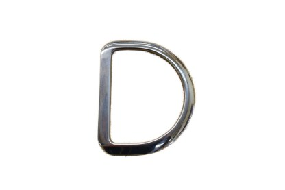 beveled dees, stainless steel hardware