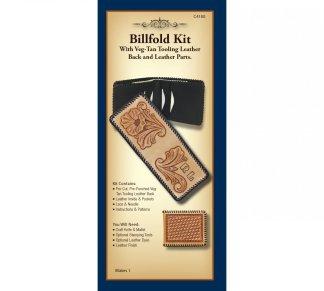 billfold, wallet, leather kit, kits, realeather, silver creek