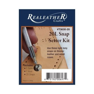 snap setter, realeather kit, line 20 snaps