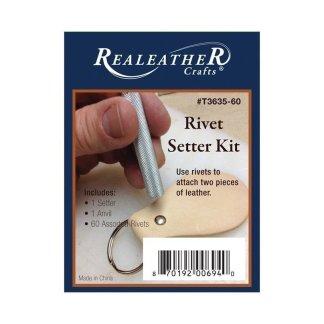 "rivet setter, 1/4"" rivets, assorted rivets"