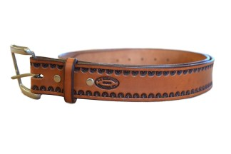 leather belt, montana belt, stamped belt