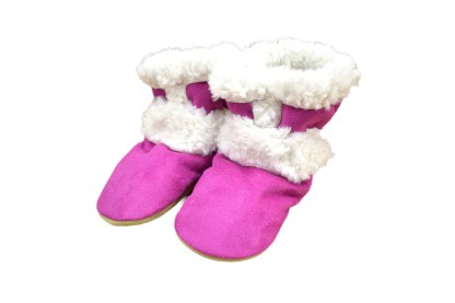 mini-mocs cherry comb toe-ster, baby moccasins, pink moccasins