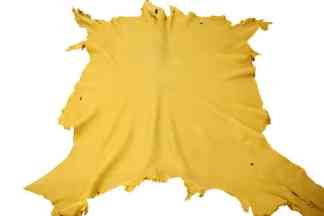 Gold moose leather hide