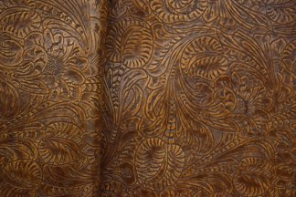 Tan Western Floral Embossed Leather