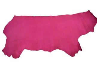 Fuchsia Vaqueta Veg Tan Leather