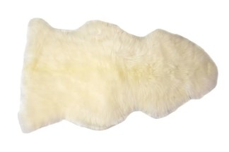 Ivory Brushed Sheep Skin Rug