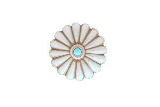 Round concho, Turquoise concho, nickel concho