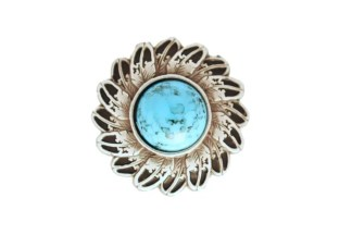 Feather concho, Turquoise concho
