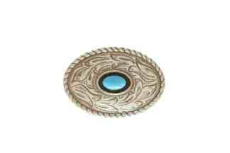 Oval concho, Turquoise concho, Nickel concho