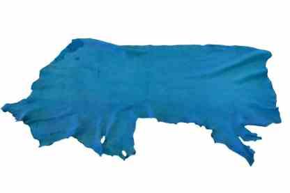 Deep Turquoise Elk Leather Piece