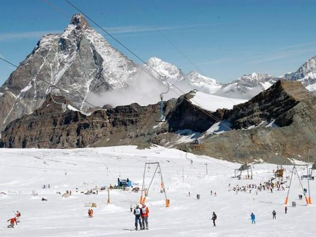 Breuil- Cervinia, Matterhorn, Alps,Valle d'Aostam, summer ski italy