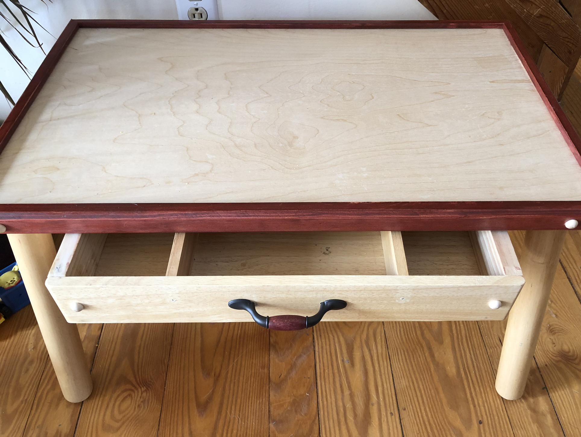 Refurbished Childrenu0027s Wood Table
