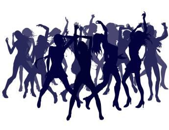 Beautiful Women Dancing on Ladies' Night Out