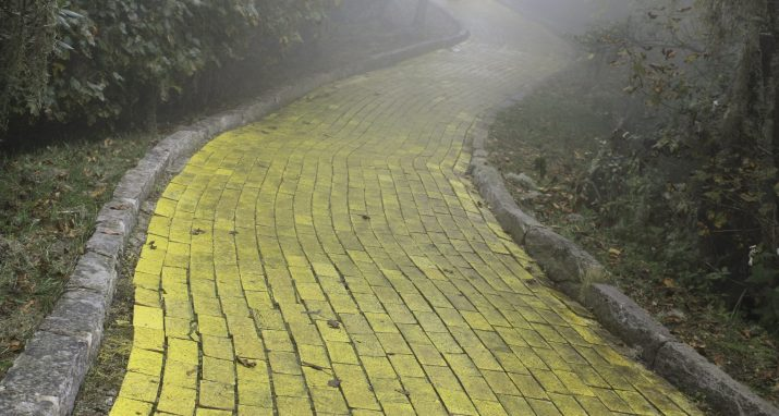 The Yellow Brick Road from Wizard of Oz