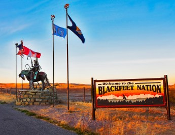 Blackfeet Reservation Entrance