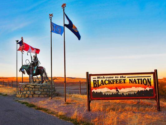 Blackfeet Reservation Entrance