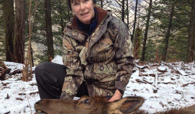 Holly Endersby gets her moose.