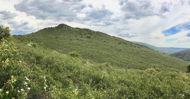 El Cerrajo visto desde el Camino al Molino de Majaelrayo.