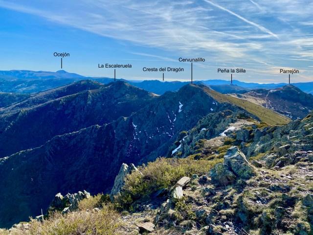 Cuerda de las Berceras y Cordal de la Escaleruela desde La Buitrera.